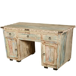 rustic-reclaimed-wood-scalloped-edge-pedestal-desk