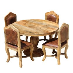 round-dining-set-for-4-empire-mango-wood-with-upholstered