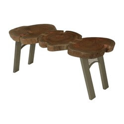 3-stump-table-top-acacia-wood-iron-contemporary-coffee-table