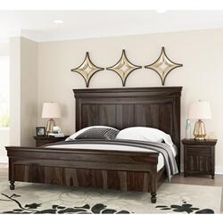 modern rustic solid wood bed frame w headboard footboard
