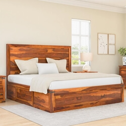 classic-shaker-solid-wood-platform-captains-bed-w-2-end-tables