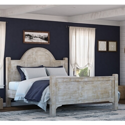 gothic rustic winter white mango wood platform bed w foot u0026 headboard