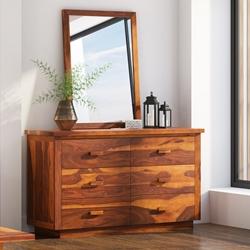 Delaware Hardwood Rustic 6 Drawer Double Dresser