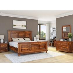 Pecos 7 Piece Solid Wood Bedroom Furniture Suite