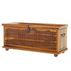 "Pecos 54"" Handcrafted Solid Wood Storage Trunk"