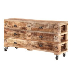 rustic-industrial-mango-wood-rolling-6-drawer-double-dresser