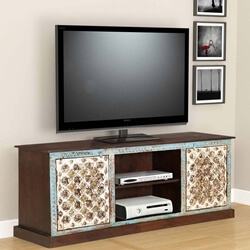 "Cincinnati Intricate crafted 59"" Wide Accent Media Console Cabinet"