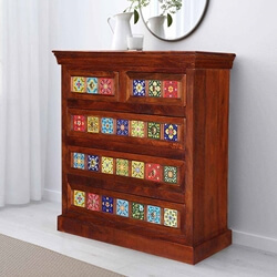 dutch-farmhouse-rainbow-tiles-mango-wood-chest-of-drawer