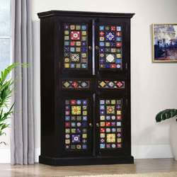 dutch-midnight-floral-tiles-mango-wood-71-wardrobe-cabinet