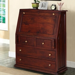 shaker-handcrafted-rustic-solid-wood-drop-front-secretary-desk