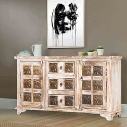 rustic-white-53-mango-wood-brass-work-accent-sideboard