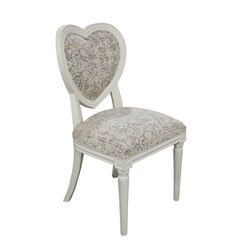 Huntingdon Romantic Heart Shaped Mahogany Wood Accent Dining Chair