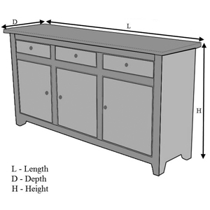Superieur Depth   The Furthest Linear Extent Or Measurement From Back To Front. Height    The Furthest Distance From Floor To The Highest Point Of The Item.