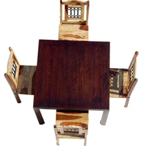 Square Dining Room Table & Chairs Set