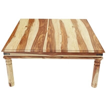 Dallas Ranch Rustic Solid Wood Square Dining Table