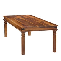 San Francisco Large Rustic Solid Wood Dining Table Transitional Style