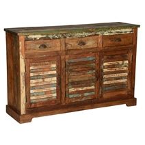 Austin Rustic Reclaimed Wood 3 Drawer Sideboard