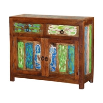 Monet Reclaimed Wood 2 Drawer Storage Cabinet