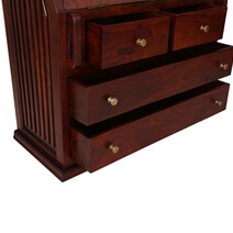 Shaker Handcrafted Rustic Solid Wood Drop Front Secretary Desk