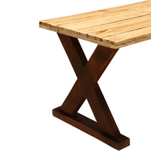 Picnic Style Acacia Wood Patio Coffee Table