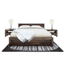 Roanoke Rustic Solid Wood Handcrafted Platform Bed