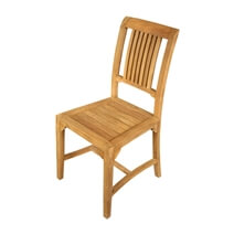 Fulton Stylish Vertical Slatted Back Teak Wood Dining Chair