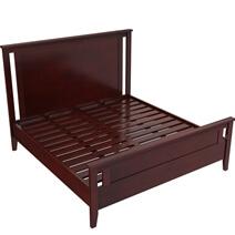 Amenia Solid Mahogany Wood 6 Piece California King Size Bedroom Set