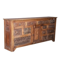 Salvisa Rustic Reclaimed Wood Handcrafted 13 Drawer Dresser