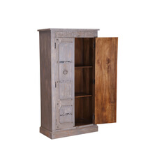 Zearing Handcrafted Traditional Reclaimed Wood Tall Cabinet Armoire