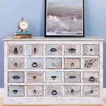 Allenton Rustic Reclaimed Wood Hand Carved Chest Of Drawers