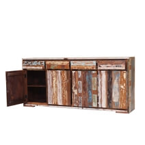 Brinnon Rustic Reclaimed Wood Furniture Large Sideboard Cabinet