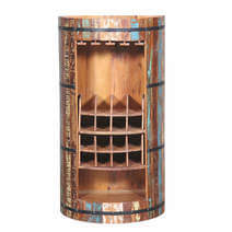 Baileyton Handcrafted Reclaimed Wood Wine Bar Cabinet