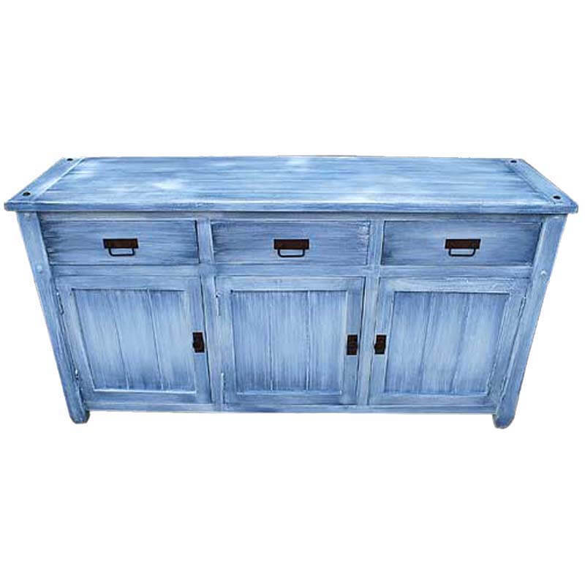 Appalachian Sky Blue Buffet Kitchen Cabinet Wood Sideboard Credenza - Sky Blue Buffet Kitchen Cabinet Wood Sideboard Credenza