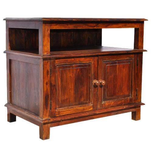 Superb Appalachian Rustic Media Center TV Cabinet