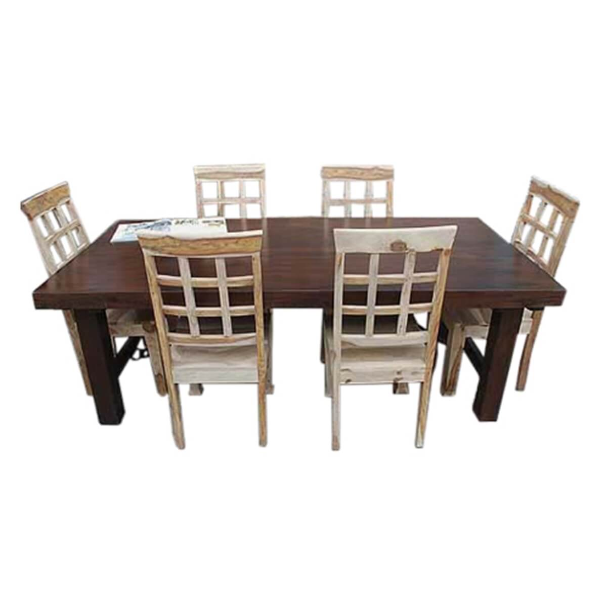 Santa Fe Solid Wood Rustic Dining Table and Chair Set For  : 13292 from www.sierralivingconcepts.com size 1200 x 1200 jpeg 216kB