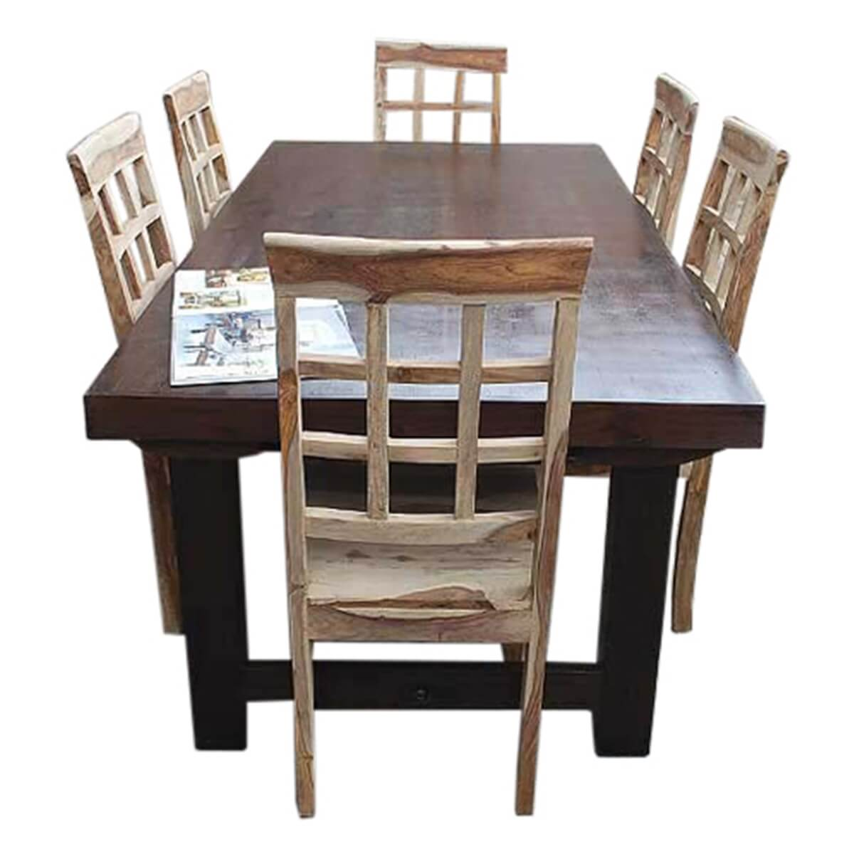 Santa Fe Solid Wood Rustic Dining Table and Chair Set For  : 13293 from www.sierralivingconcepts.com size 1200 x 1200 jpeg 336kB