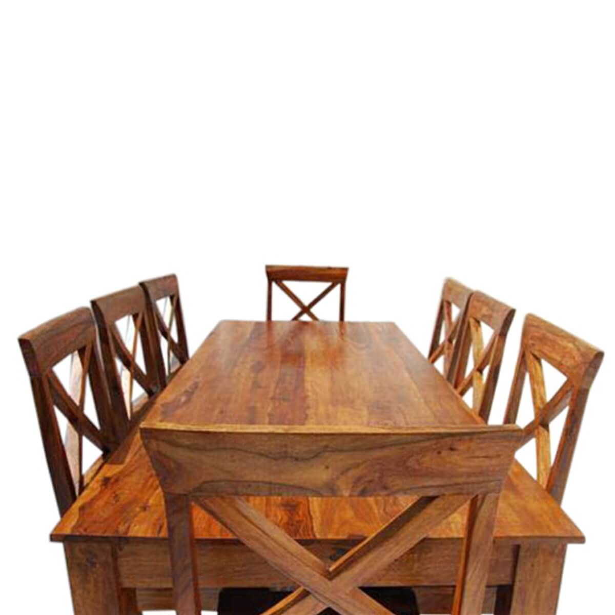 large rustic oklahoma solid wood dining table chair set. Black Bedroom Furniture Sets. Home Design Ideas