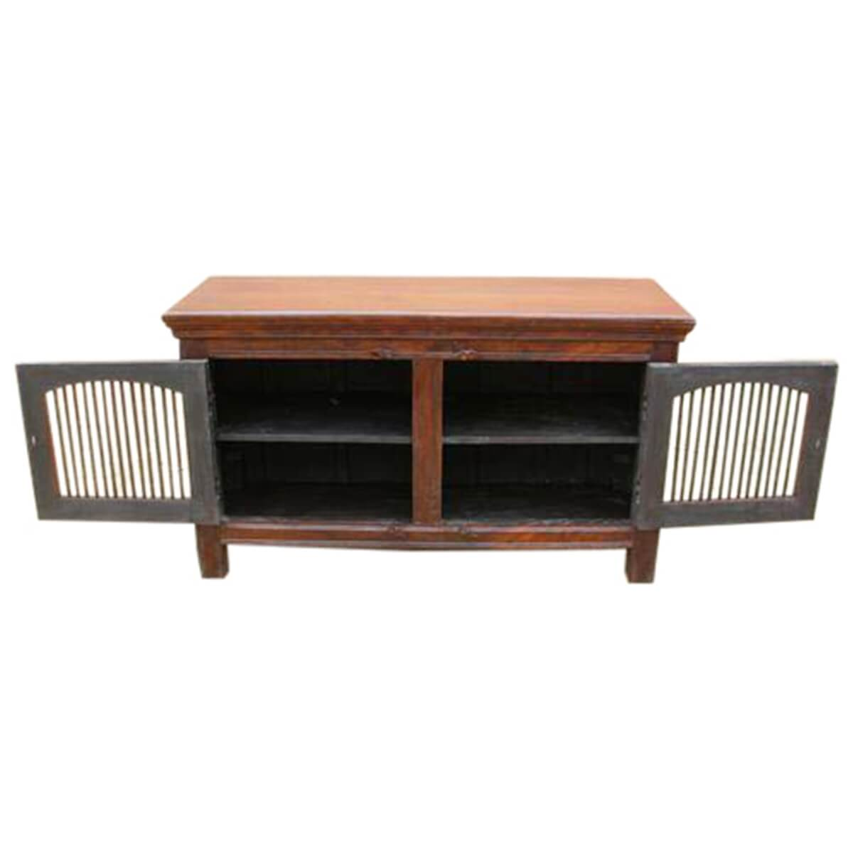 wade solid wood 2 wrought iron door buffet cabinet. Black Bedroom Furniture Sets. Home Design Ideas