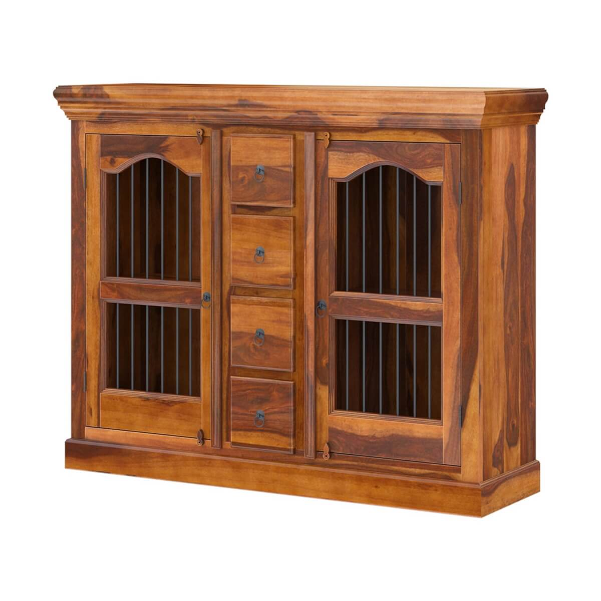 Arlington Handmade Solid Wood Dining Room 4 Drawer Credenza