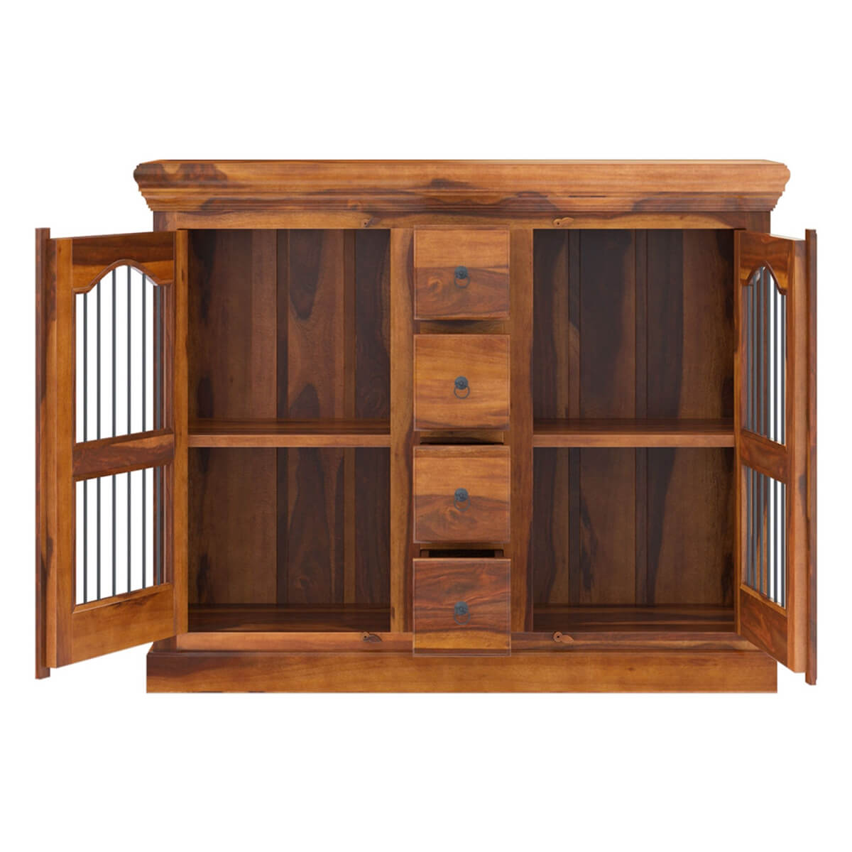 Handmade Solid Wood Island Units: Arlington Handmade Solid Wood Dining Room 4 Drawer Credenza