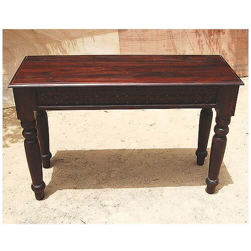 Iron Accent Wood Handcrafted Entryway Console Table