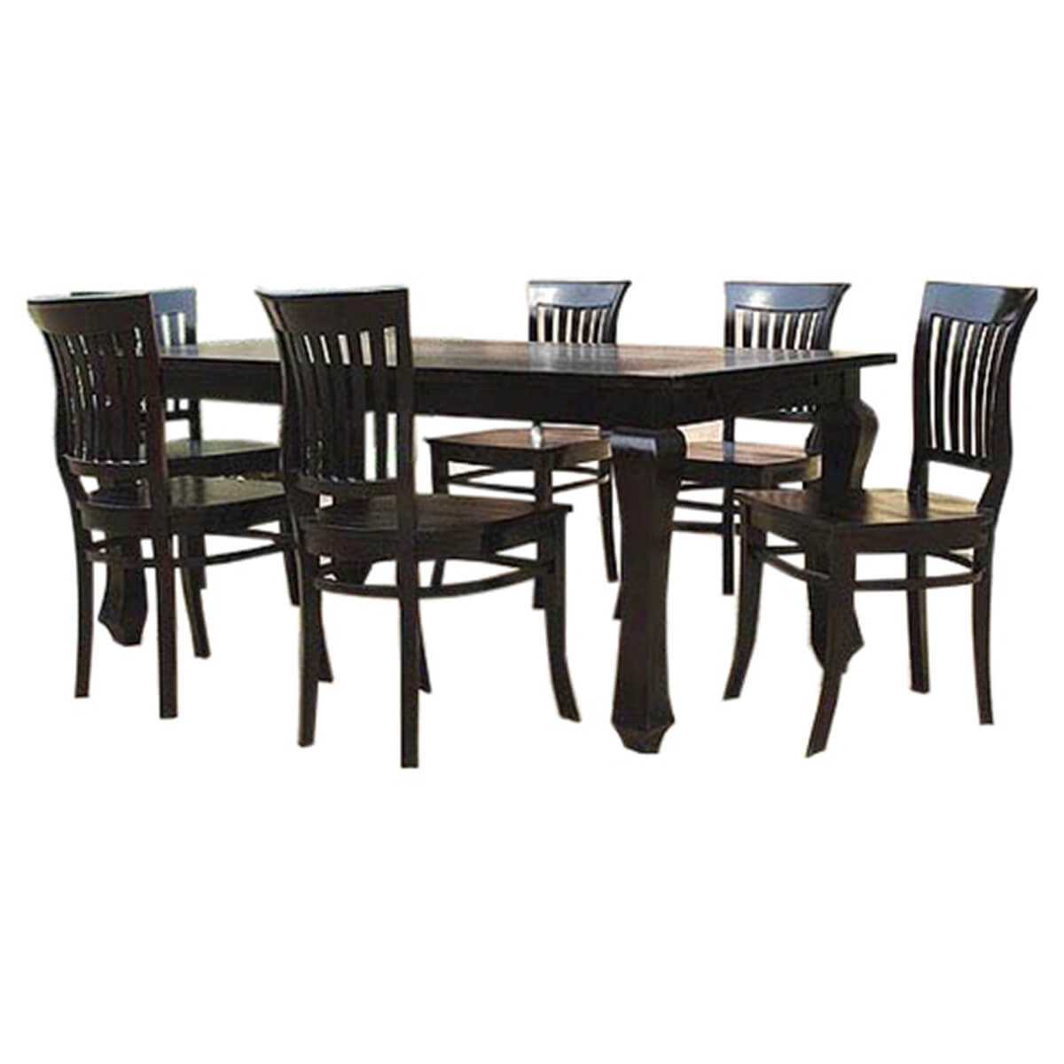Solid Wood Kitchen Tables: Kansas City Solid Wood Kitchen Dining Table With School