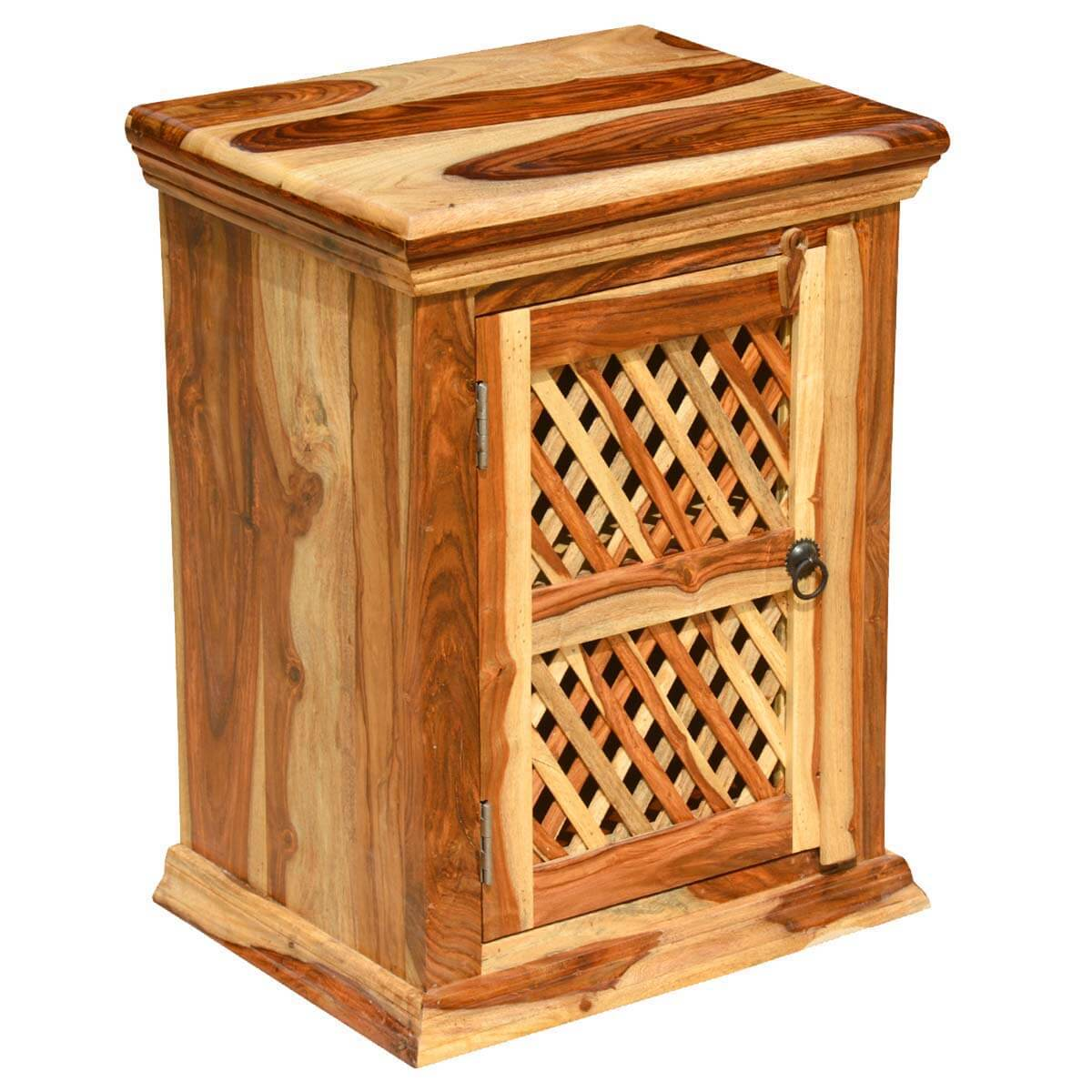 Wooden Kitchen Stands ~ Wood night stand bed side table kitchen storage cabinet