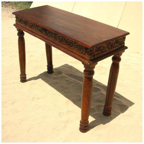 Solid Wood Sofa Table ~ Solid wood handcrafted sofa entryway hall console table
