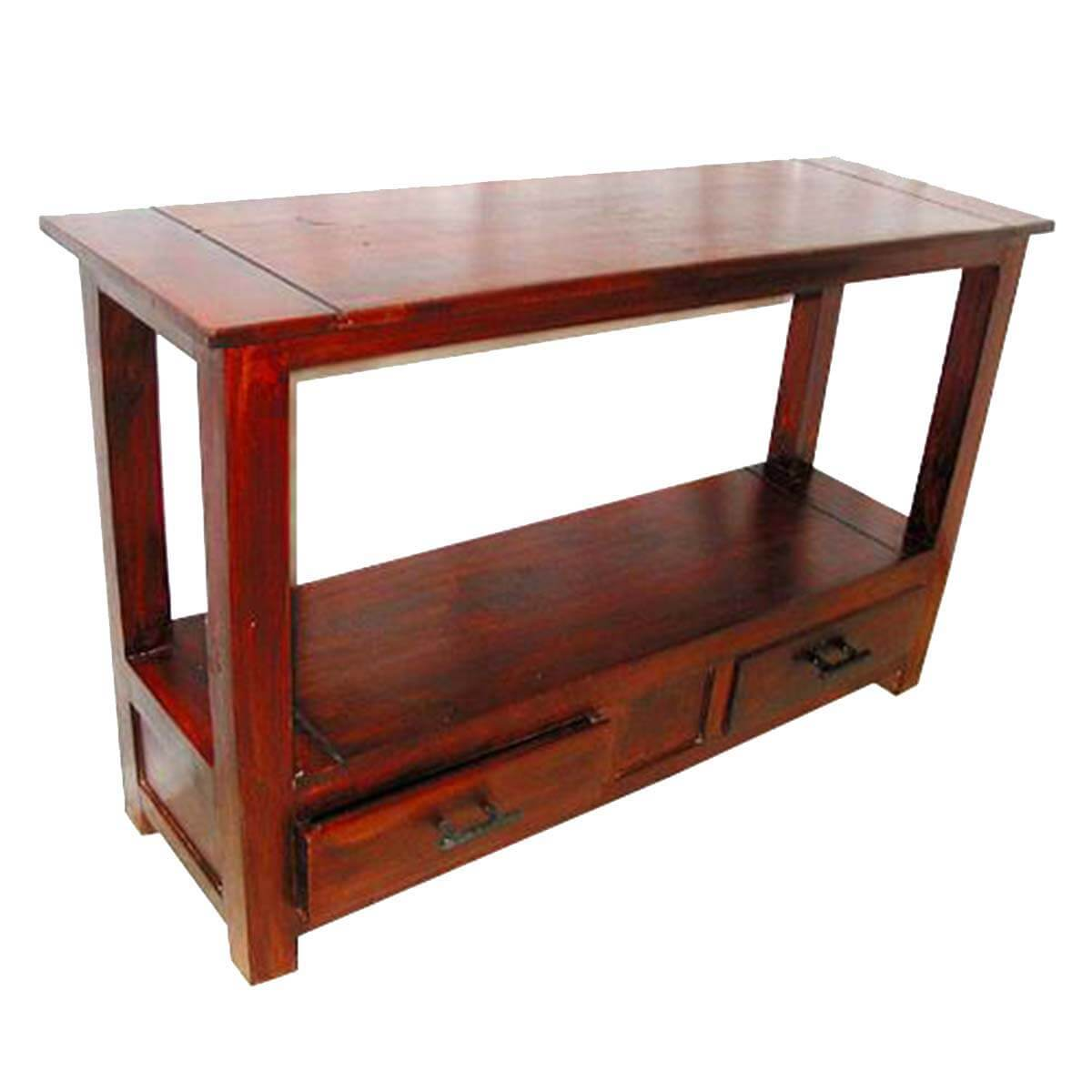 Foyer Table Cabinet : Solid wood console hall entry foyer table furniture