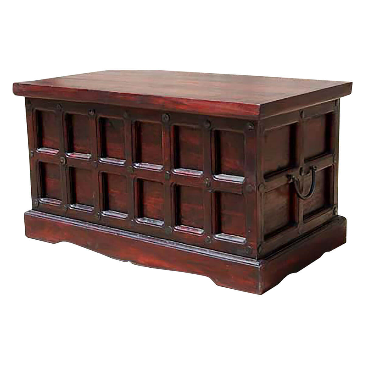 beaufort solid wood storage chest trunk box coffee table - Storage Chest Trunk
