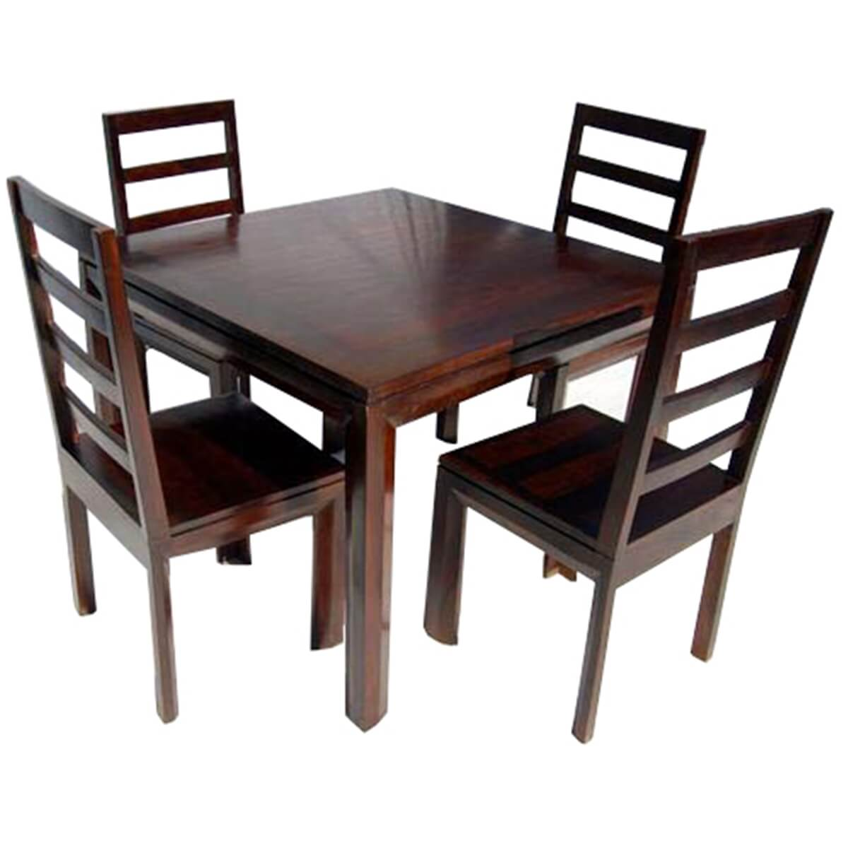 Solid Wood Dining Table Chairs: Solid Wood Transitional Dining Table And Chairs Set