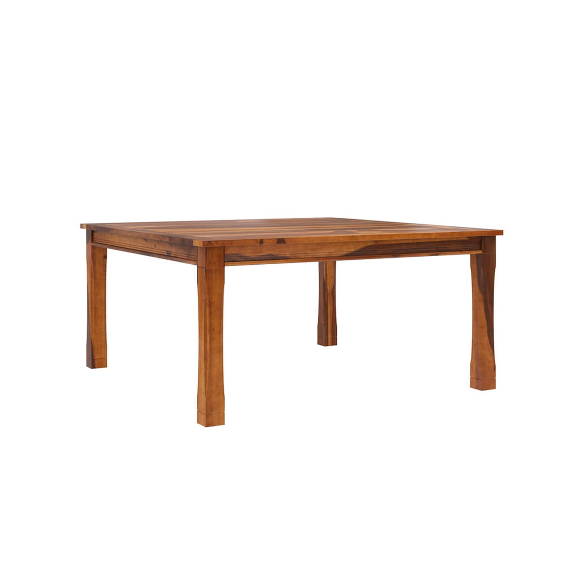 8 Person Square Dining Table: Dallas Ranch Transitional Square Wood Dining Room Table For 8 People
