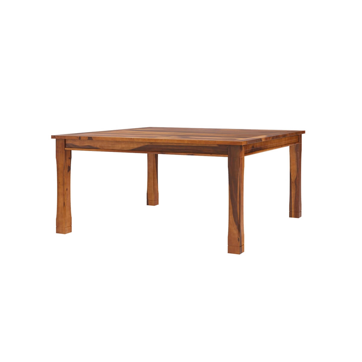 8 Person Square Dining Table: Dallas Ranch Transitional Square Wood Dining Room Table For 4 People