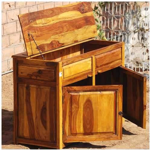 Kitchen Cabinets In Dallas: Dallas Ranch Rustic Solid Wood 2 Door Kitchen Storage Cabinet